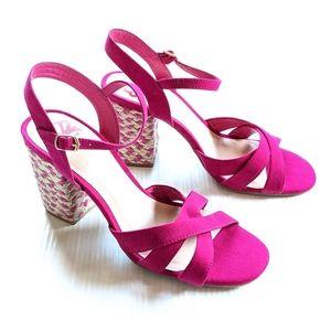 FERGALICIOUS Fiance Pink Heeled Sandals Azala Pink